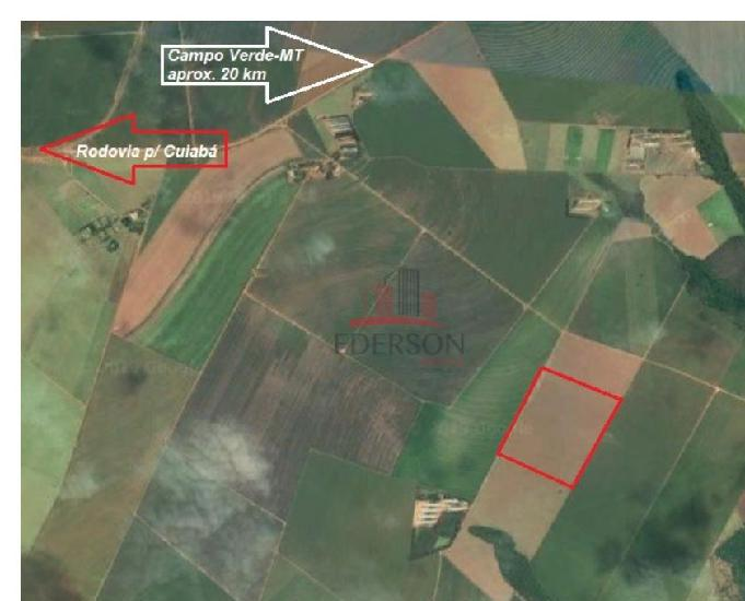 Rea de 53,12 hectares toda de plantio em campo verde-mt