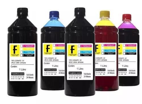 5 litros refil tinta impressora epson l355 l365 l375 l395 xp