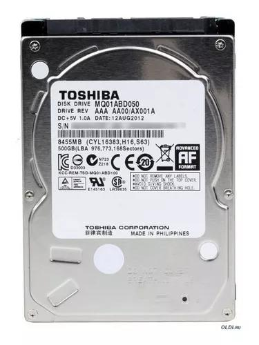 Hd 500gb toshiba p/ notebook e netbook sata 5400 rpm 8m 2.5