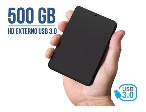 Hd externo 500gb de bolso usb 3.0 novo garantia