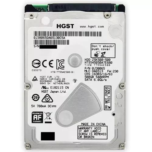 Hd Hitachi Hgts 500gb Notebook Sata 3 Hgst Slim Novo Lacrado
