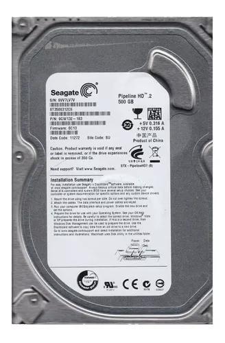 Hd interno 500gb sata p/ dvr seagate video garantia +nfe