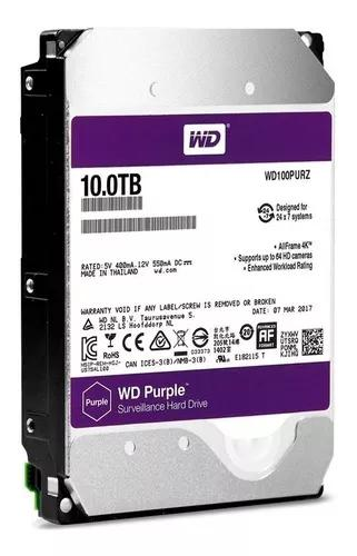 Hd interno western digital purple 10tb sata3 6gb/s cftv dvr