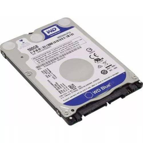 Hd notebook 2.5 500gb - 5400rpm -wd5000lpcx western digital