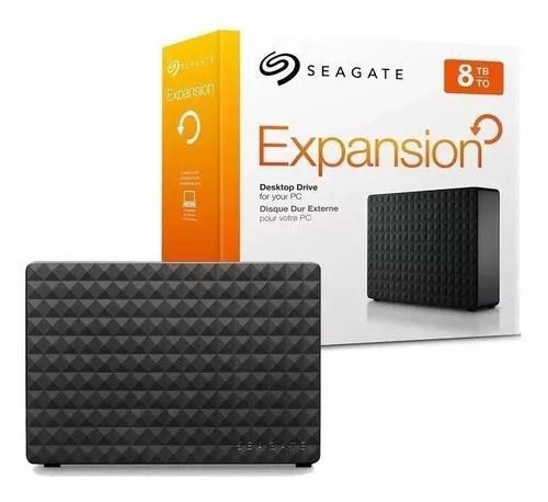Hd seagate externo expansion usb 3.0 8tb preto 8000gb