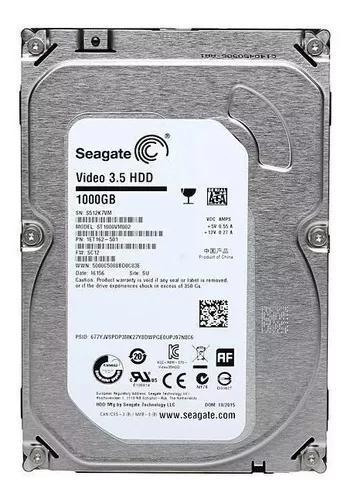 Hd seagate video 1 tb 1000gb compatível qualquer dvr