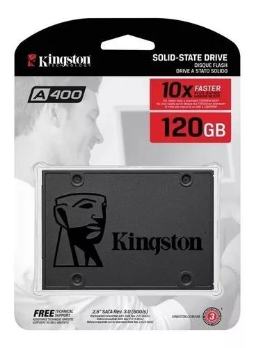 Hd ssd 120 gb sata 3 kingston a400 500 mb/s + nf original