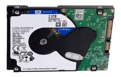 Hd western digital wd blue 2tb 2.5 notebook 5400 wd20spzx