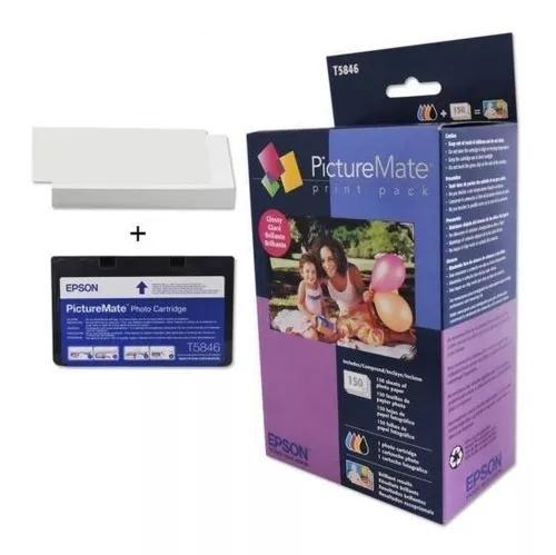 Kit cartucho t5846 e papel original com logo epson pm 225
