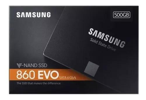 Ssd 500gb samsung 860 evo 6gb/s 2.5 550mb/s original lacrado