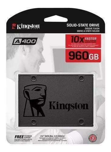 Ssd kingston 960gb a400 sata3 60gb/s para pc e notebook
