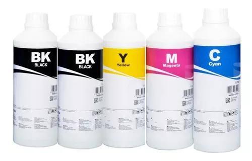 Tinta inktec corante 2 x black + cmy para epson - 5 litros