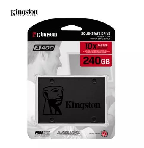 Uma unidade por cliente ssd kingston a400 240gb sata 3 - 2.5
