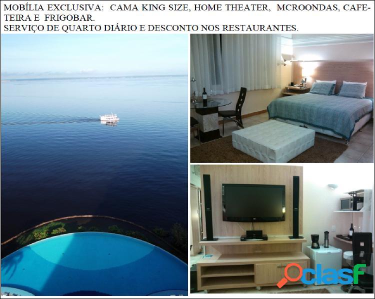 Aluga ou Vende lindo flat com mobilia exclusiva de frente para o Rio Negro - Manaus Amazonas AM
