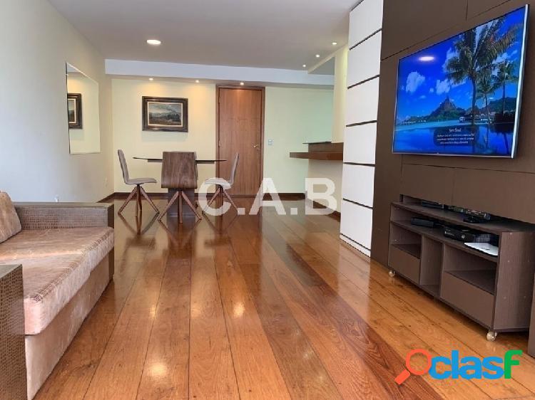 Apartamento em alphaville mobiliado no ed. master- 2 suites