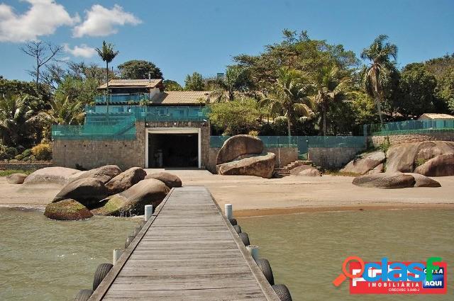 Casa de luxo de frente para o mar, venda direta caixa, bairro cacupé, florianópolis, sc
