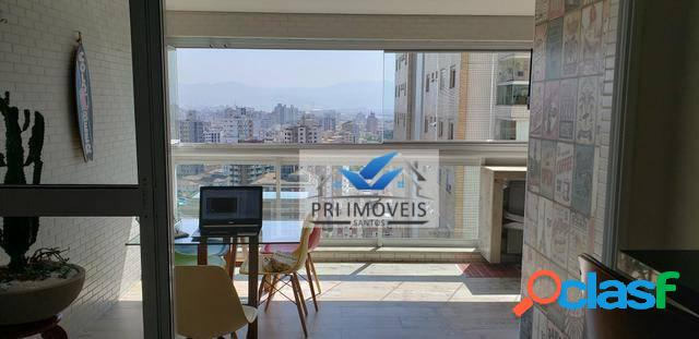 Apartamento à venda, 77 m² por R$ 690.000,00 - Ponta da Praia - Santos/SP
