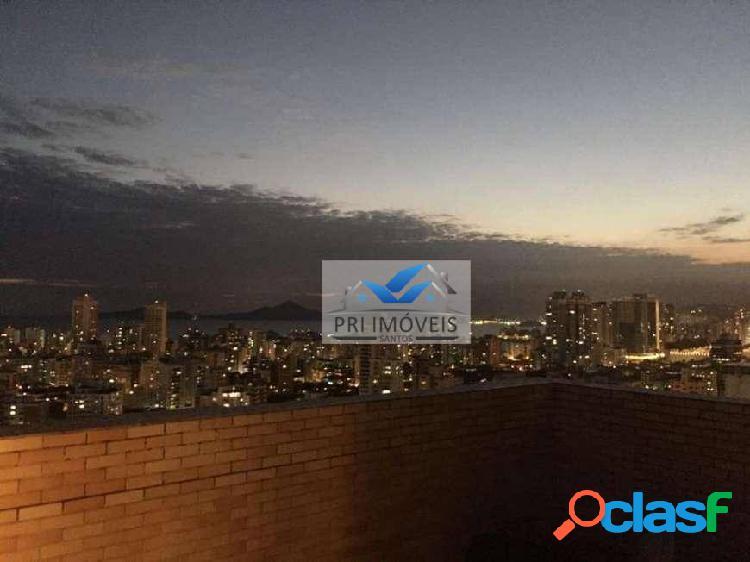Cobertura à venda, 180 m² por r$ 940.000,00 - ponta da praia - santos/sp