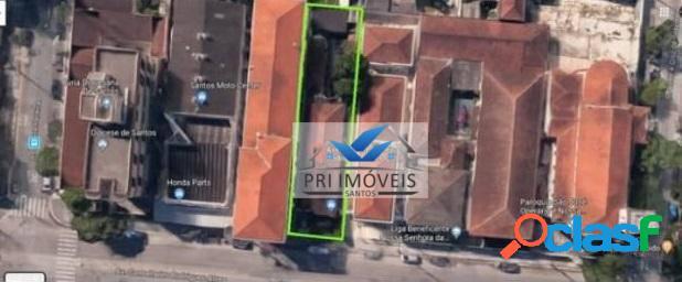 Terreno à venda, 500 m² por r$ 1.475.000,00 - macuco - santos/sp