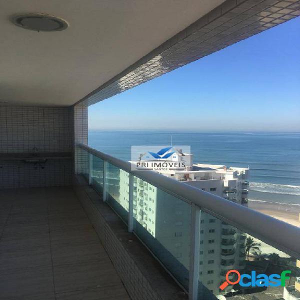 Apartamento à venda, 190 m² por r$ 750.000,00 - vila caiçara - praia grande/sp