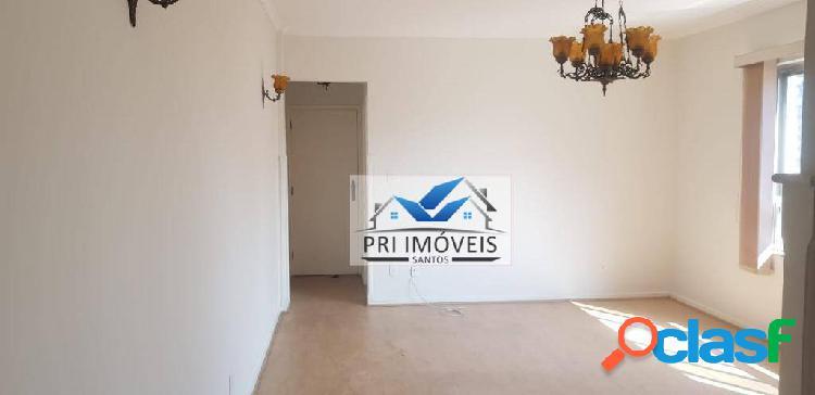 Apartamento para alugar, 117 m² por r$ 3.000,00/mês - gonzaga - santos/sp