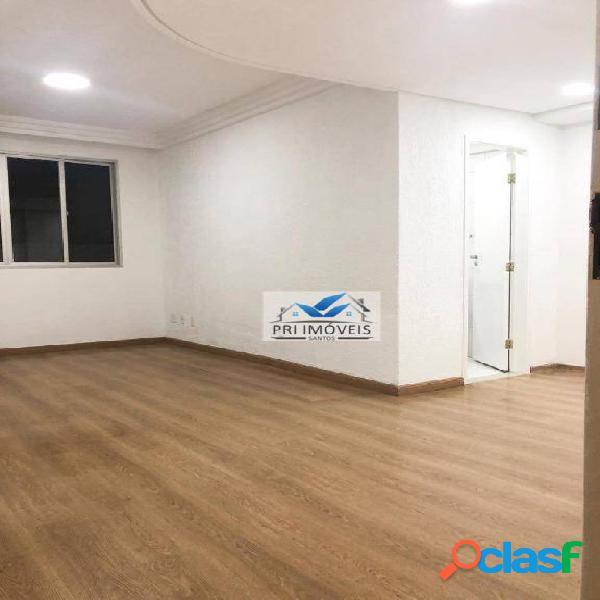 Apartamento à venda, 84 m² por r$ 395.000,00 - embaré - santos/sp