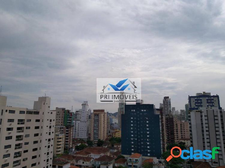 Apartamento para alugar, 52 m² por r$ 3.200,00/mês - embaré - santos/sp