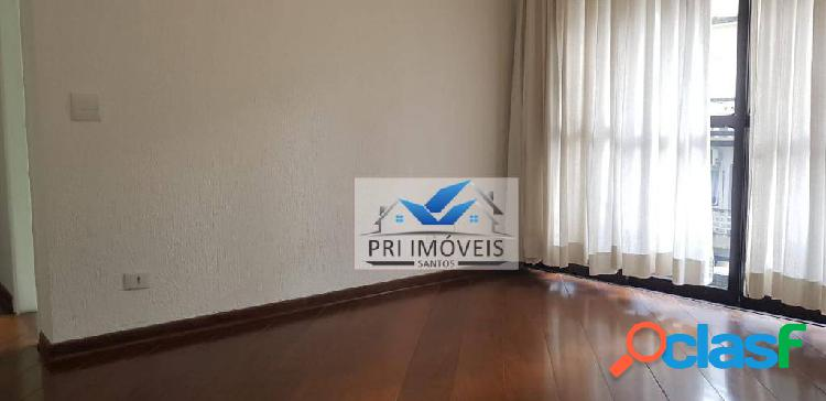 Apartamento para alugar, 55 m² por r$ 2.350,00/mês - boqueirão - santos/sp