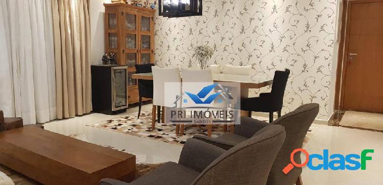 Apartamento à venda, 110 m² por r$ 730.000,00 - embaré - santos/sp
