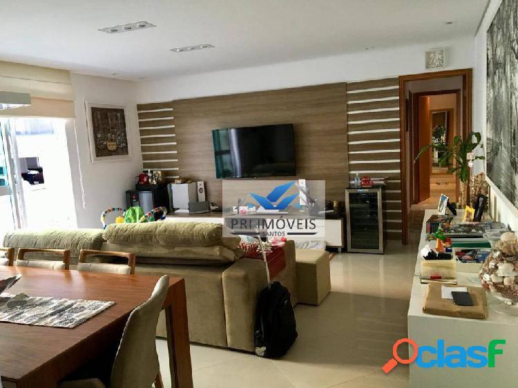 Apartamento à venda, 110 m² por r$ 650.000,00 - embaré - santos/sp