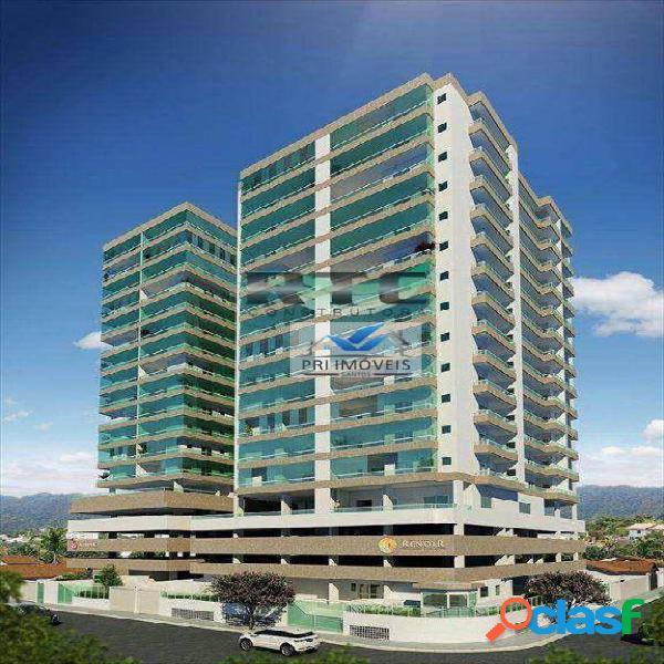 Apartamento à venda, 86 m² por r$ 445.000,00 - canto do forte - praia grande/sp