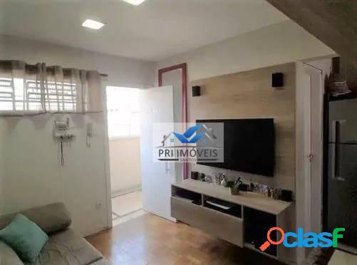 Kitnet à venda, 34 m² por r$ 208.000,00 - boqueirão - santos/sp