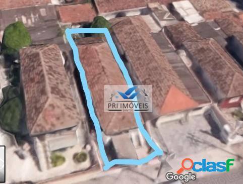 Terreno à venda, 272 m² por r$ 690.000,00 - ponta da praia - santos/sp