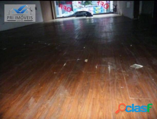 Loja para alugar, 300 m² por r$ 6.500,00/mês - encruzilhada - santos/sp