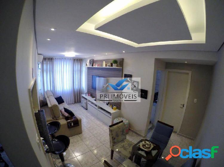 Apartamento à venda, 45 m² por r$ 225.000,00 - josé menino - santos/sp