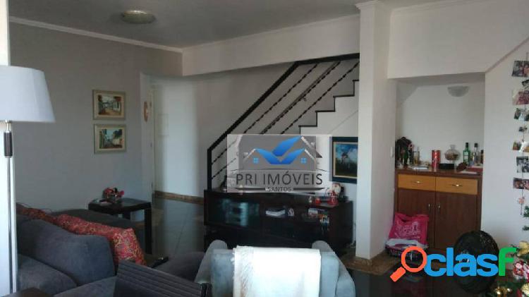 Cobertura à venda, 138 m² por r$ 723.000,00 - aparecida - santos/sp