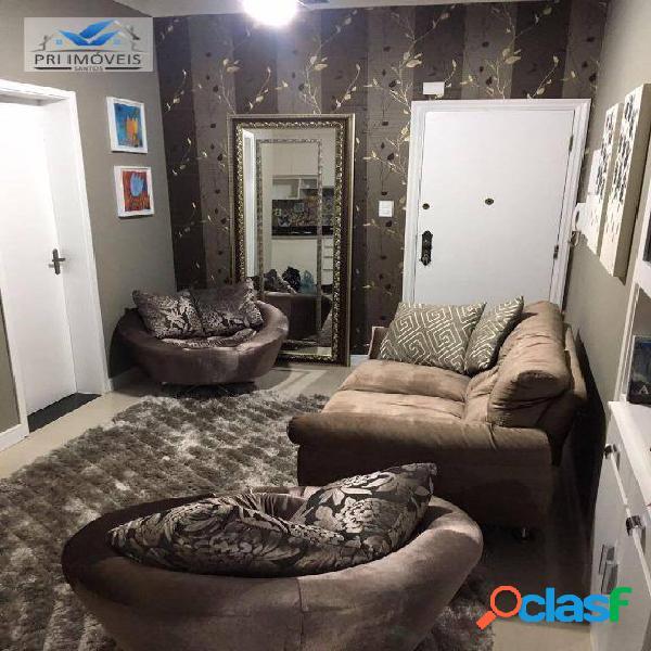 Apartamento à venda, 47 m² por r$ 399.000,00 - boqueirão - santos/sp