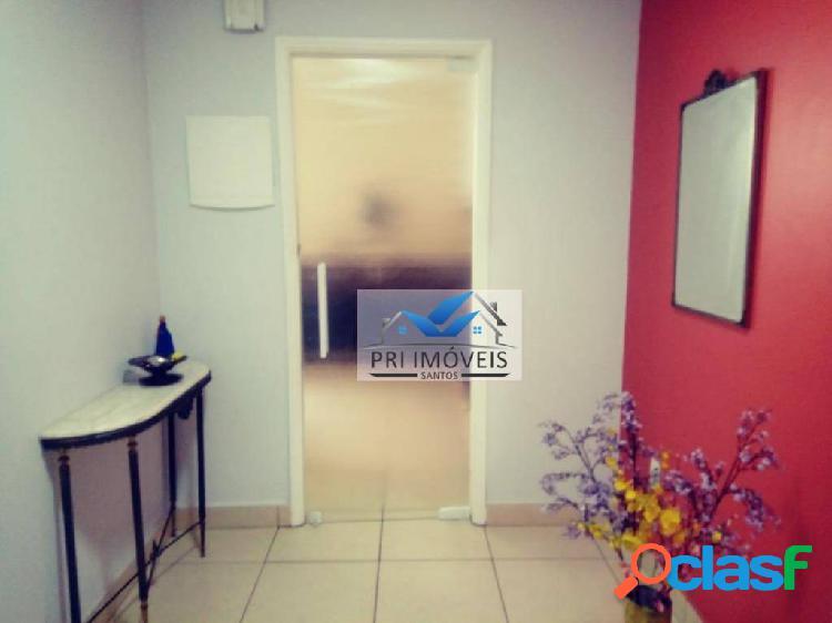 Apartamento à venda, 190 m² por r$ 740.000,00 - ponta da praia - santos/sp