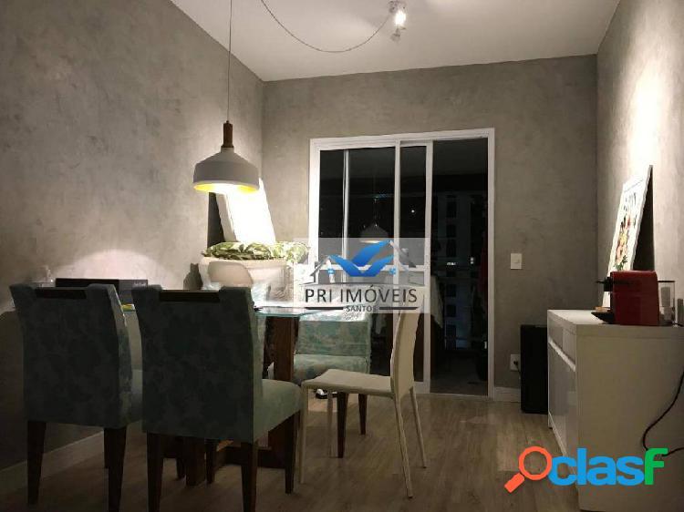 Apartamento à venda, 87 m² por r$ 690.000,00 - pompéia - santos/sp