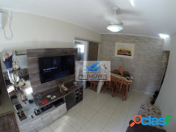 Apartamento à venda, 52 m² por r$ 287.000,00 - josé menino - santos/sp