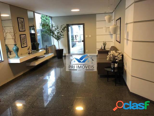 Apartamento à venda, 147 m² por r$ 820.000,00 - pompéia - santos/sp