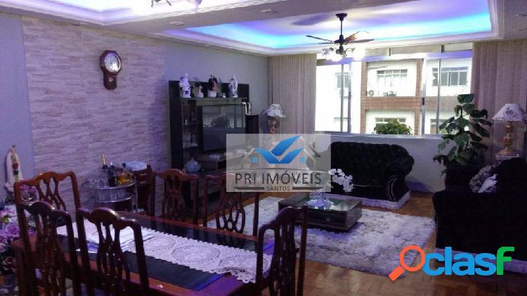 Apartamento à venda, 125 m² por r$ 655.000,00 - ponta da praia - santos/sp