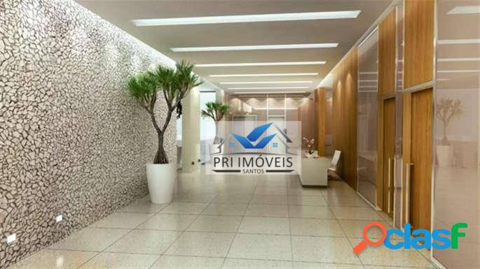 Sala à venda, 43 m² por r$ 215.000,00 - valongo - santos/sp