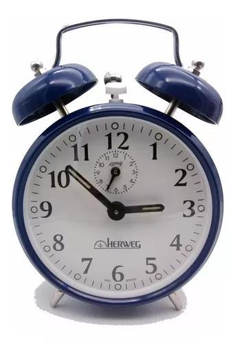 3 uni. relógio despertador antigo a corda retrô aço