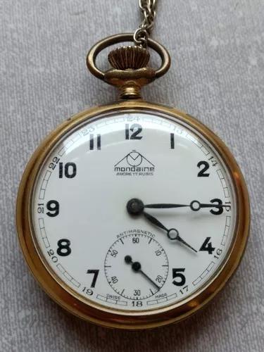 Antigo Relógio Bolso Mondaine Com Certificado