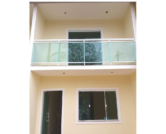 Casa duplex nova 2 suítes - 80m2 - 1 vaga- aceita cartafgts