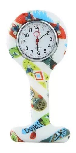 Kit 10 uni relógio lapela silicone enfermeiras multi