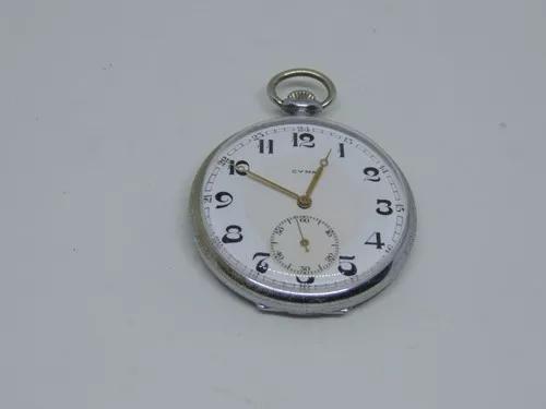 Lindo e antigo relógio de bolso suiço marca cyma.