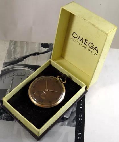 Omega relogio bolso 37.5 ouro rosa +
