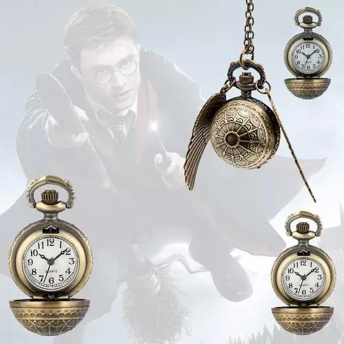 Pomo de ouro quadribol colar relógio de bolso harry potter!